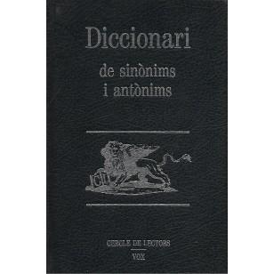 DICCIONARI DE SINONIMS I ANTONIMS Prolegs de Salvador Espriu i Pere Gimferrer